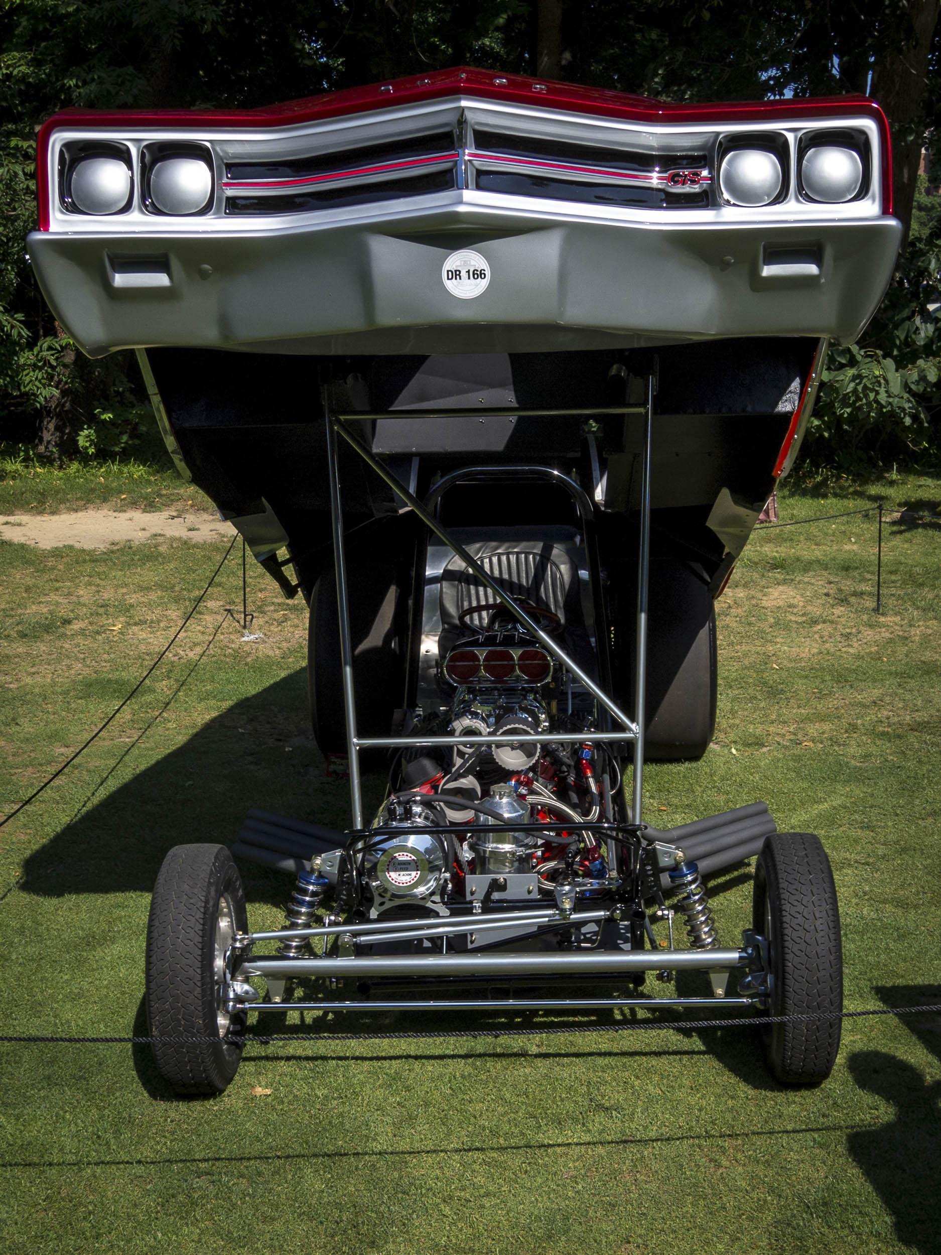 Drag race funny car