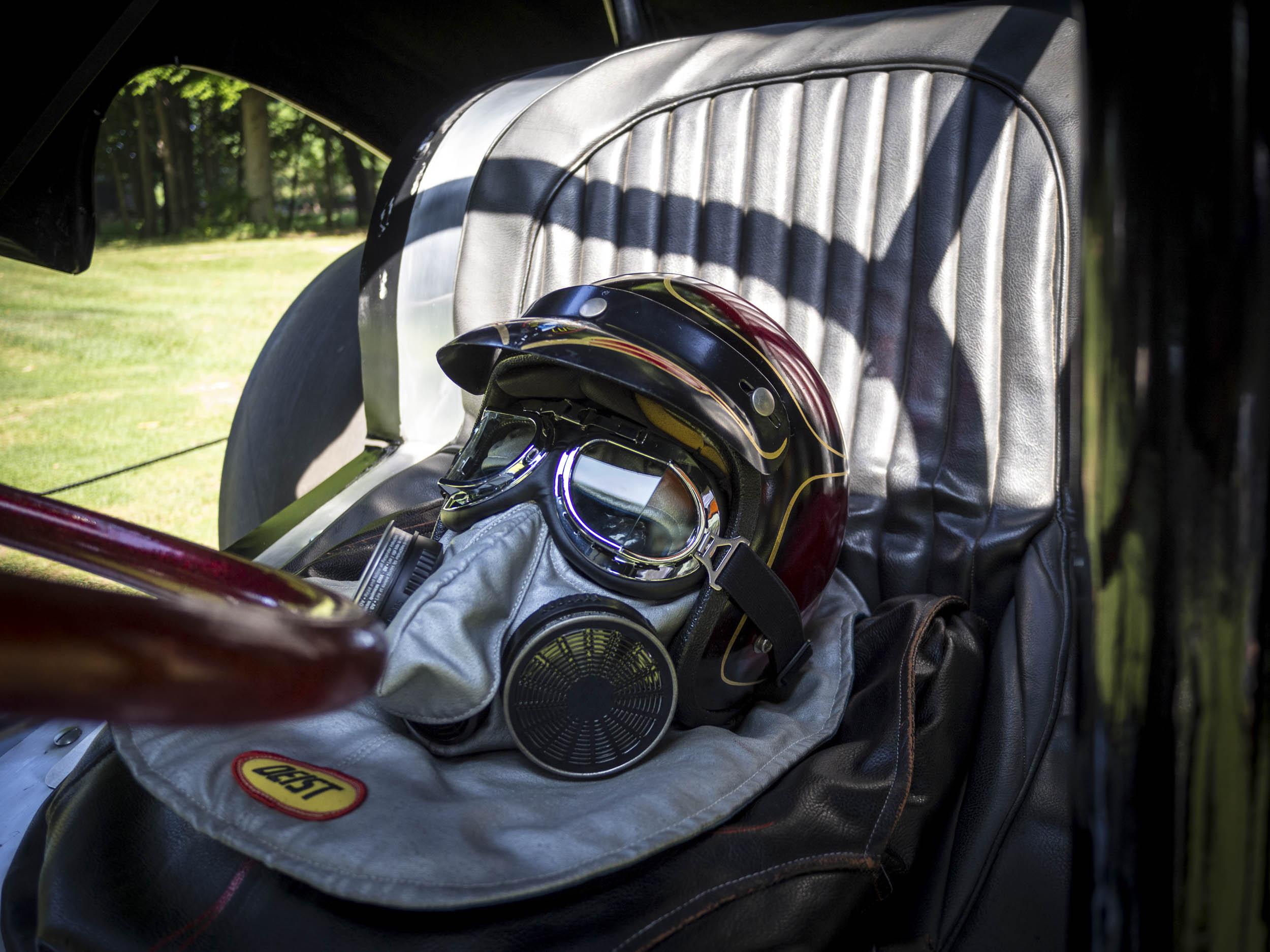 vintage drag racing helmet