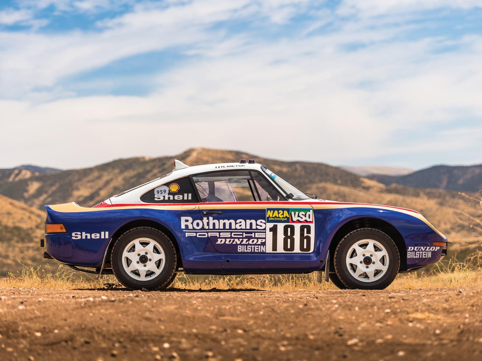 1985 Porsche 959 Paris-Dakar side profile