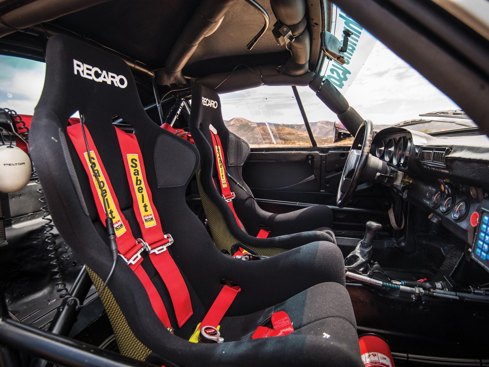 1985 Porsche 959 Paris-Dakar interior seats