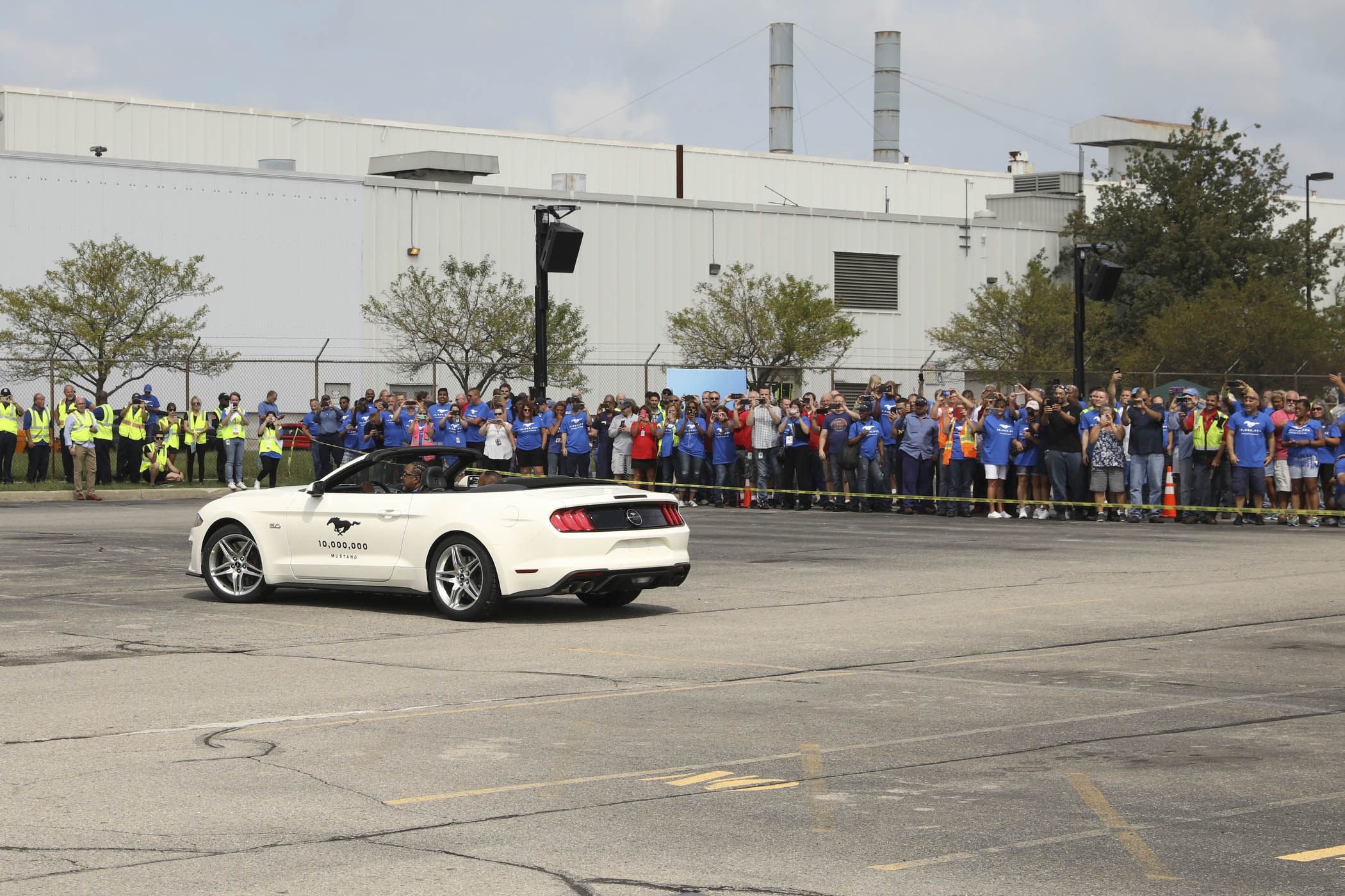 The 10 Millionth Mustang being driven