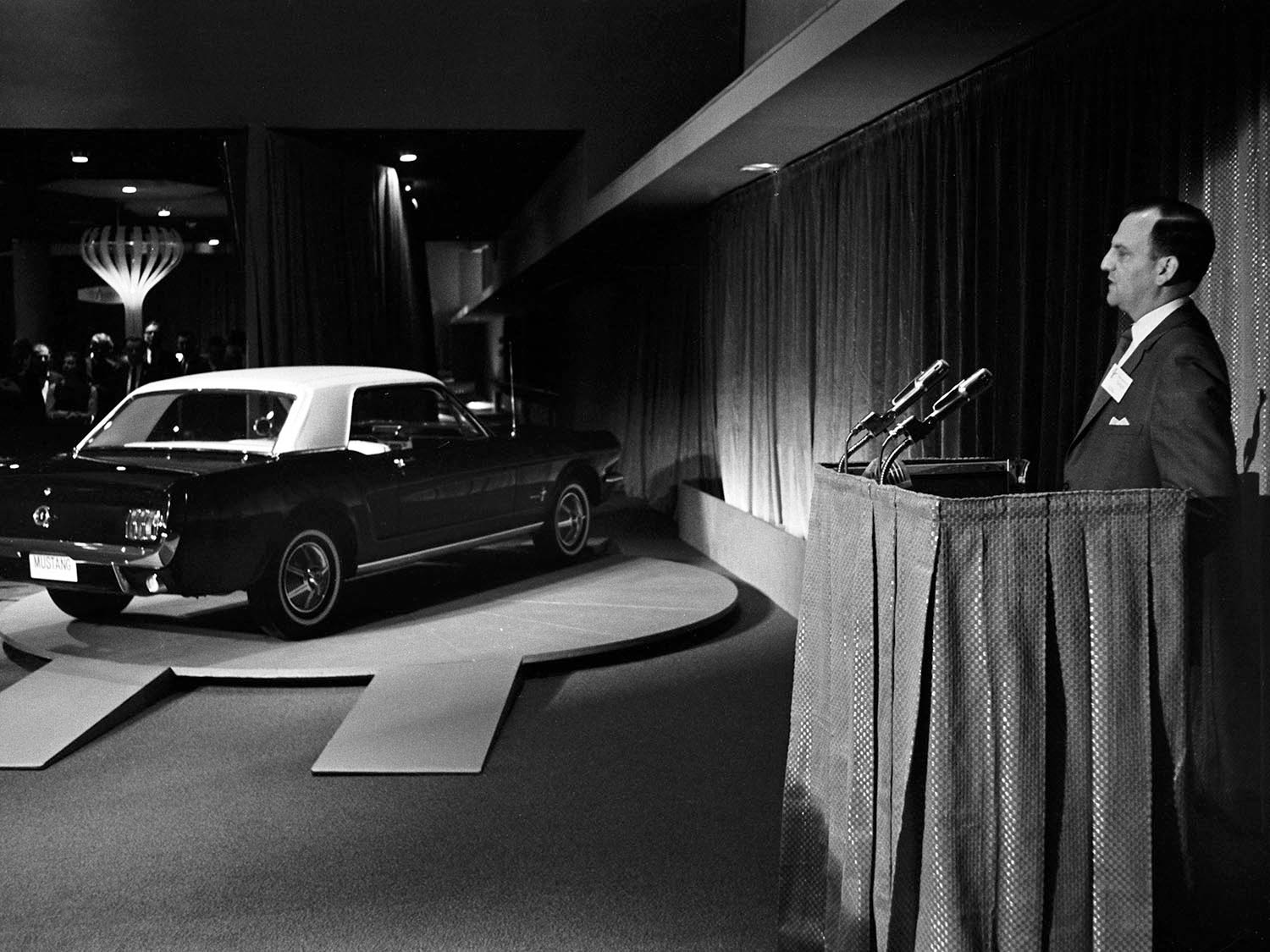 1964  Worlds Fair Ford Mustang introduction