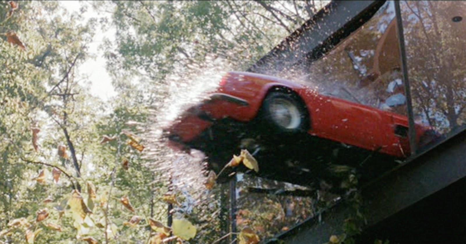 1961 Ferrari 250GT California Spider crashes through glass ferris bueller