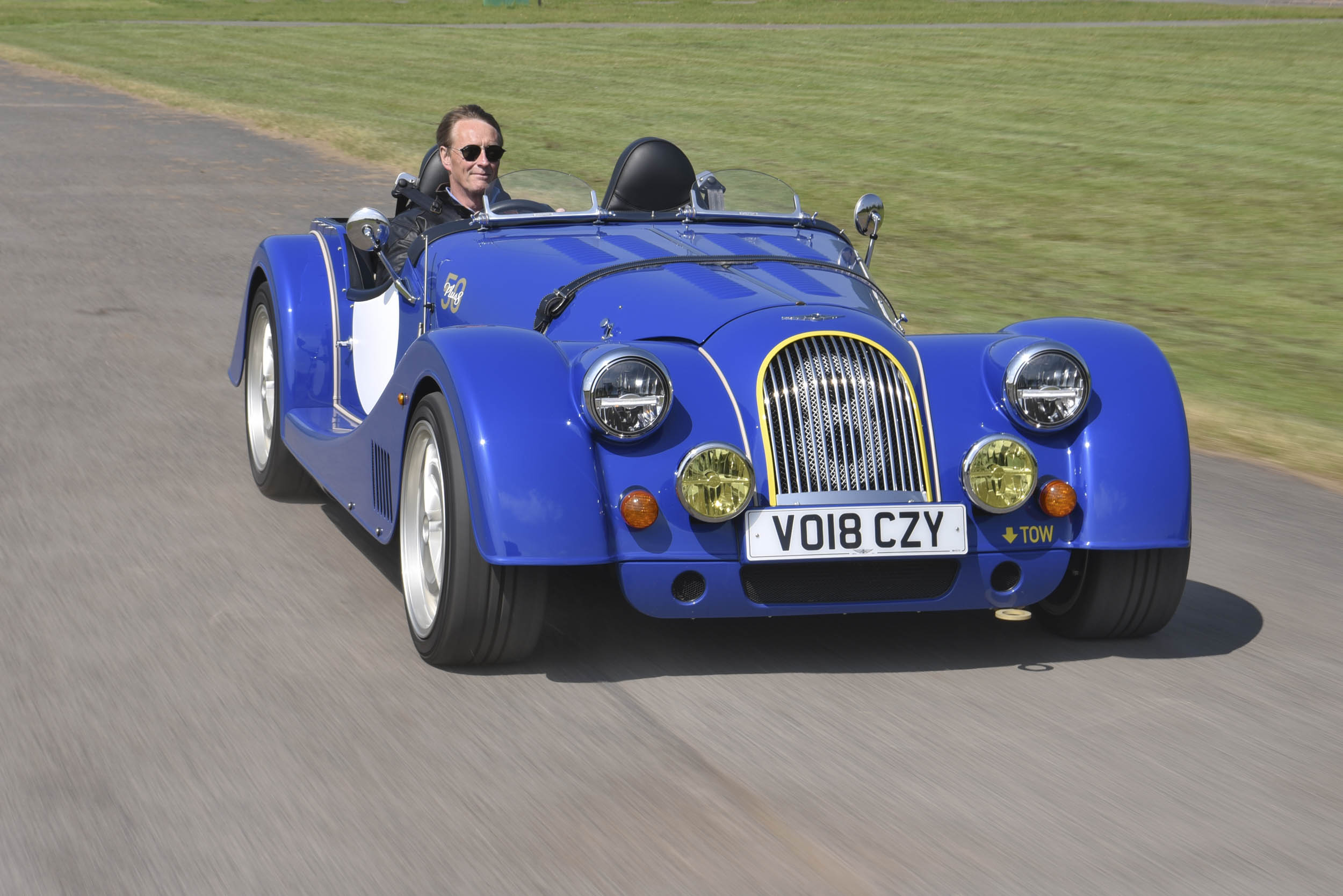Morgan Plus 8 driving front