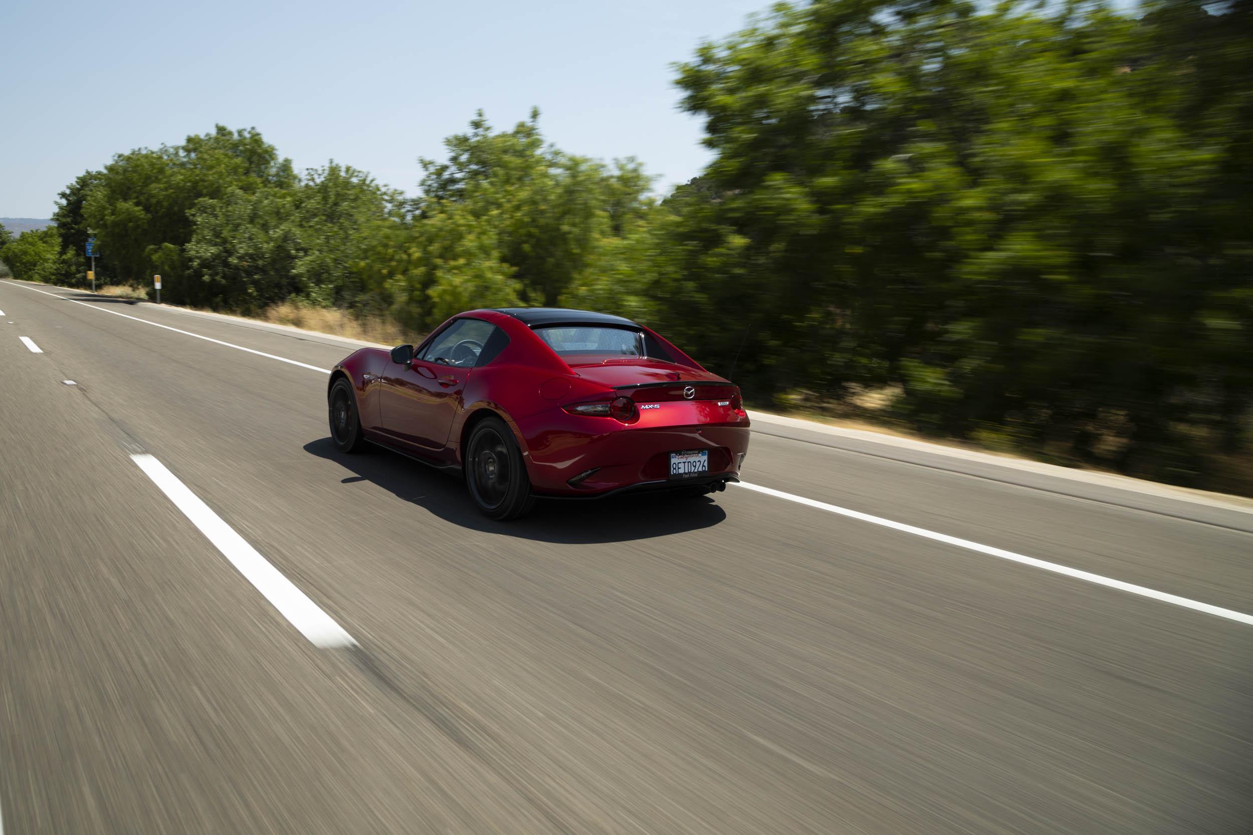 2019 Mazda MX-5 Miata Roadster rear 3/4 driving