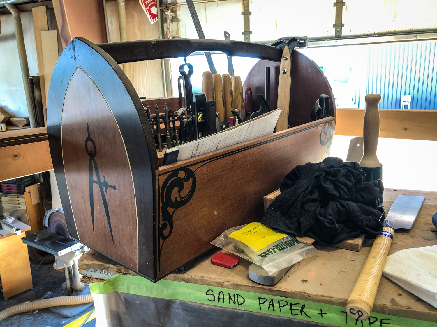 An example of a boat builder's handmade toolbox