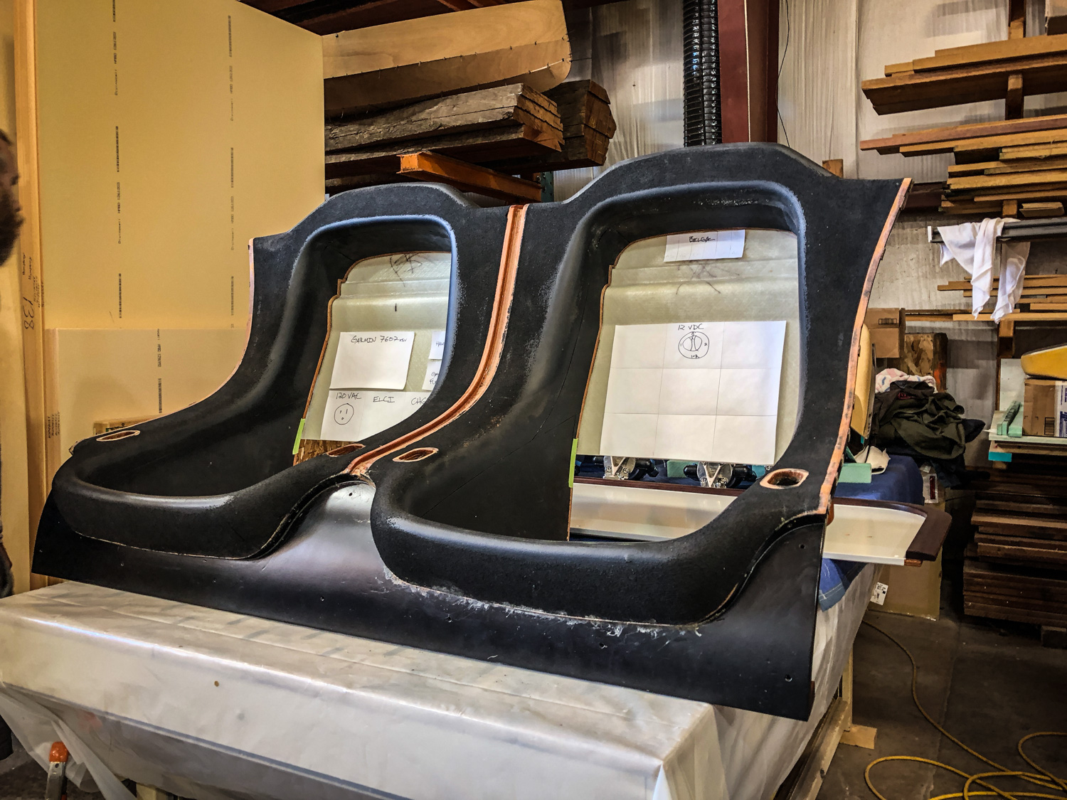 Victoria Z's seats are beginning to take shape.