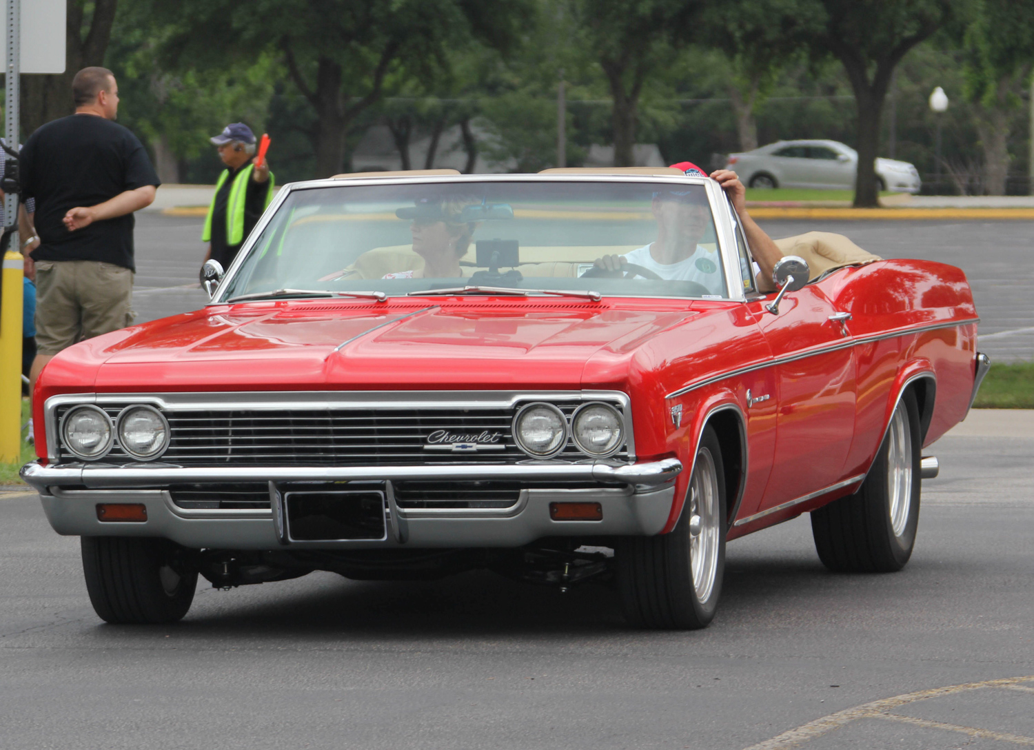 Red b-body impala front 3/4