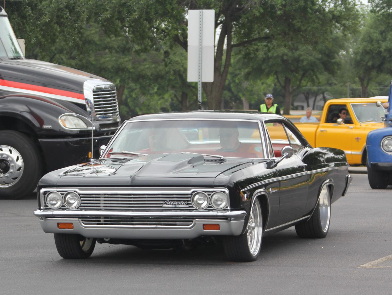 black b body impala big wheels front 3/4