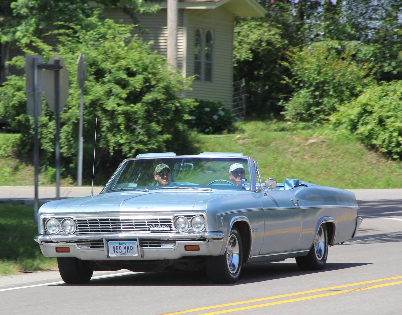 blue b body impala convertible