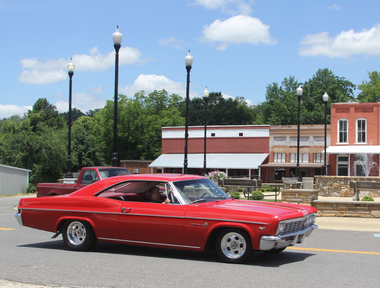Red b body impala hard top