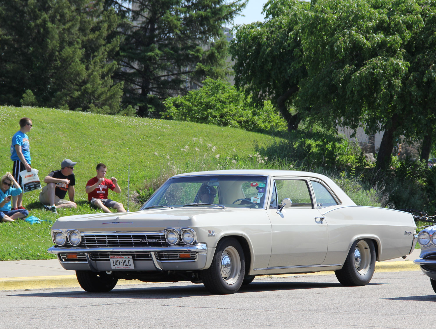 The 1965 Biscayne was the base model, and also the lightest of Chevy B-bodies. Combined with a big-block, as this example possesses, made for the quickest full-size cars in the drag racing production classes. When Chevy redesigned the outer body in 1969, it kept the sedan bodies (as hardtops) and discontinued the fastback body.