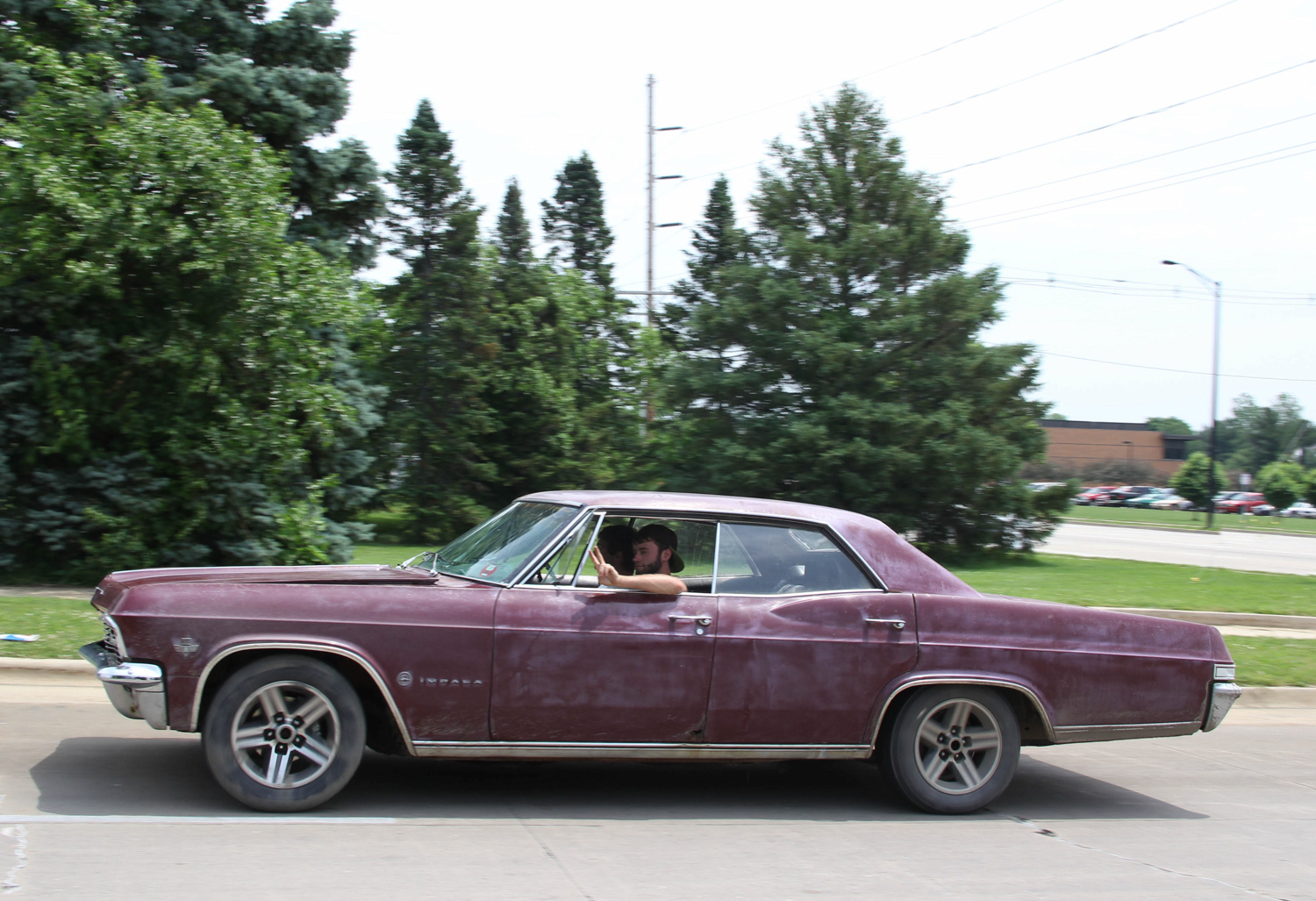 The four-door hardtop Impalas had such a long list of options they started to crowd into Cadillac territory. This Impala is equipped with a 327-cubic-inch small-block and Turbo 350 transmission.