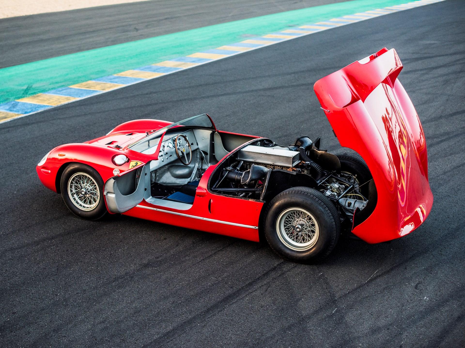 1963 Ferrari 275P open hood and door
