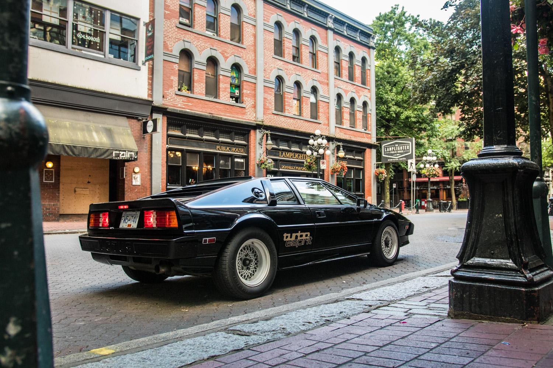 Lotus Esprit turbo city streets rear 3/4