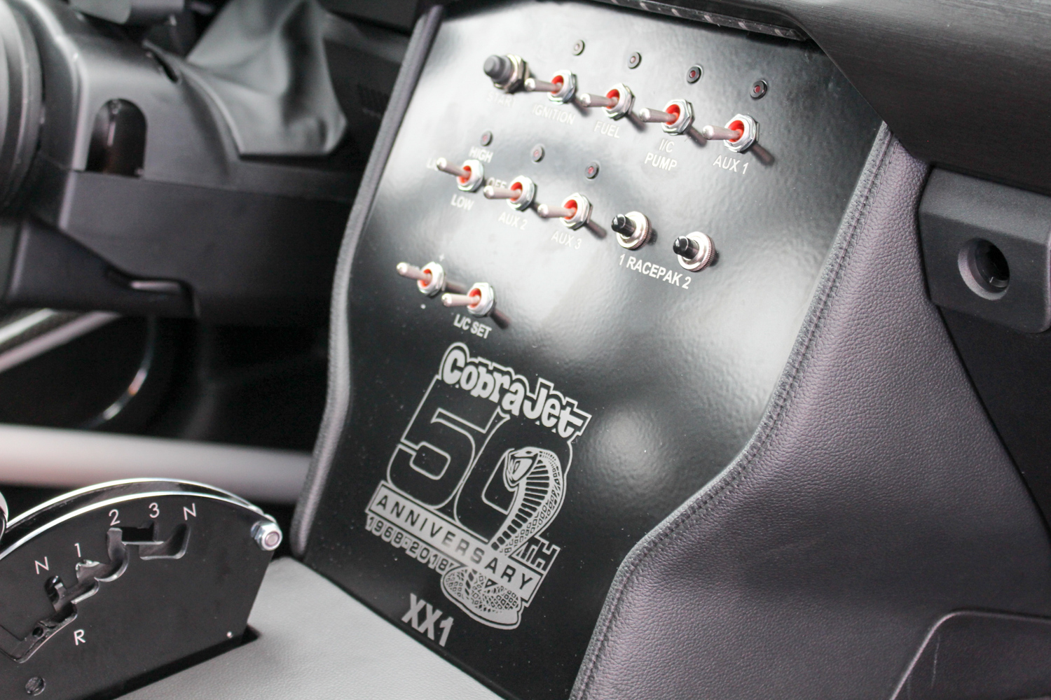 2018 Ford Mustang Cobra Jet switch gear