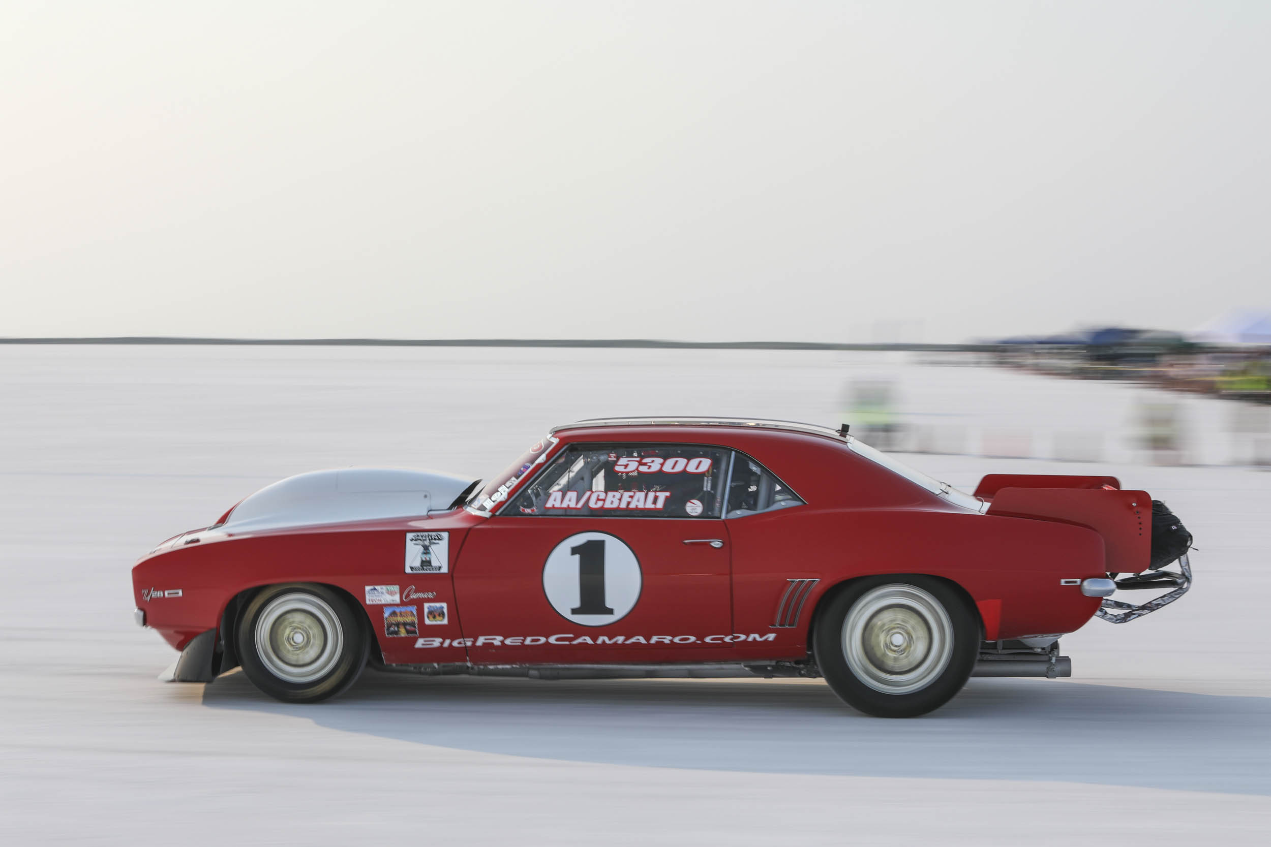 The Big Red Camaro has competed in standing mile events, at Pike's Peak, and how it has the AA Classic Blown Fuel Altered record at nearly 250 mph.