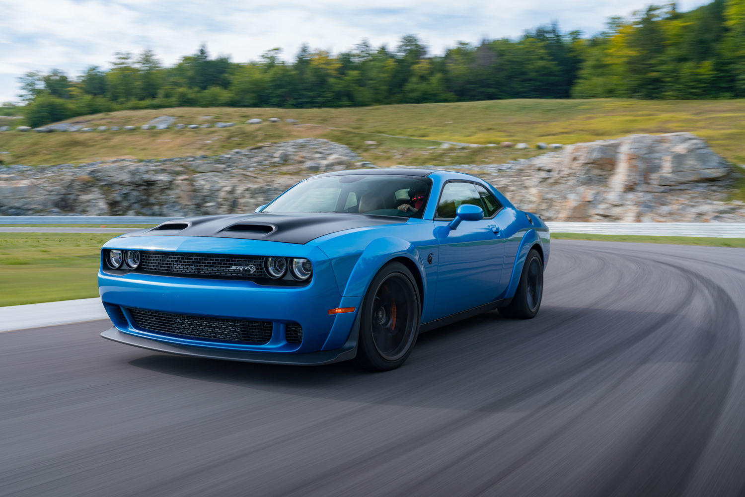 2019 Challenger SRT Hellcat Redeye Widebody on track drivers side