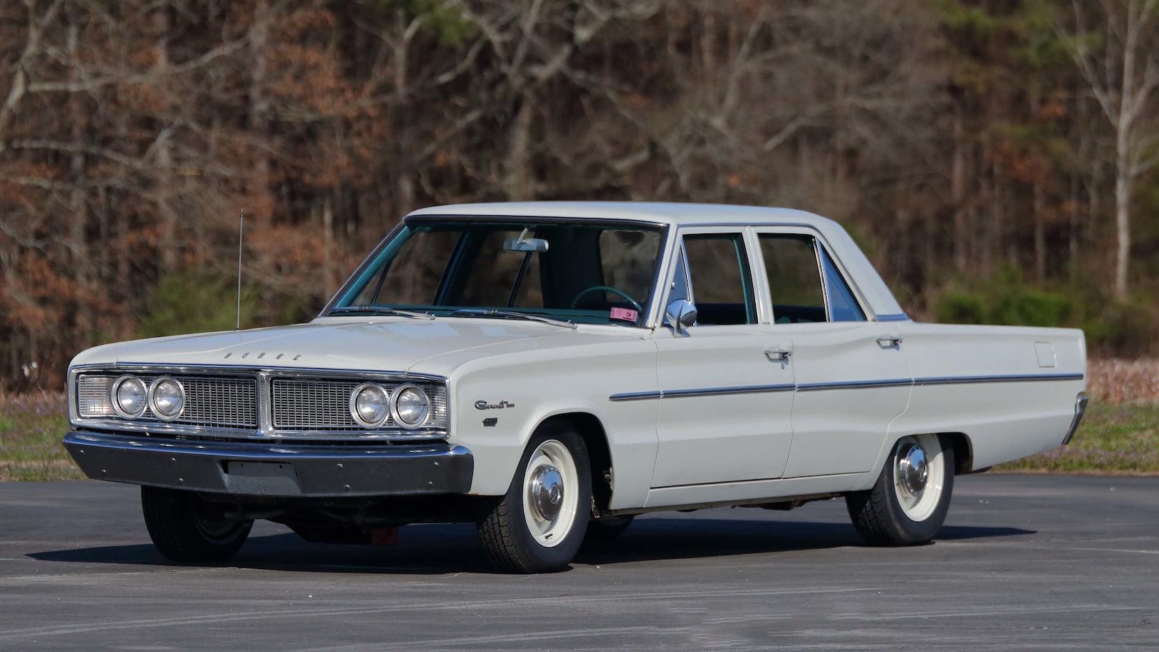 1966 Dodge Coronet four-door Sedan front 3/4 don gartlits