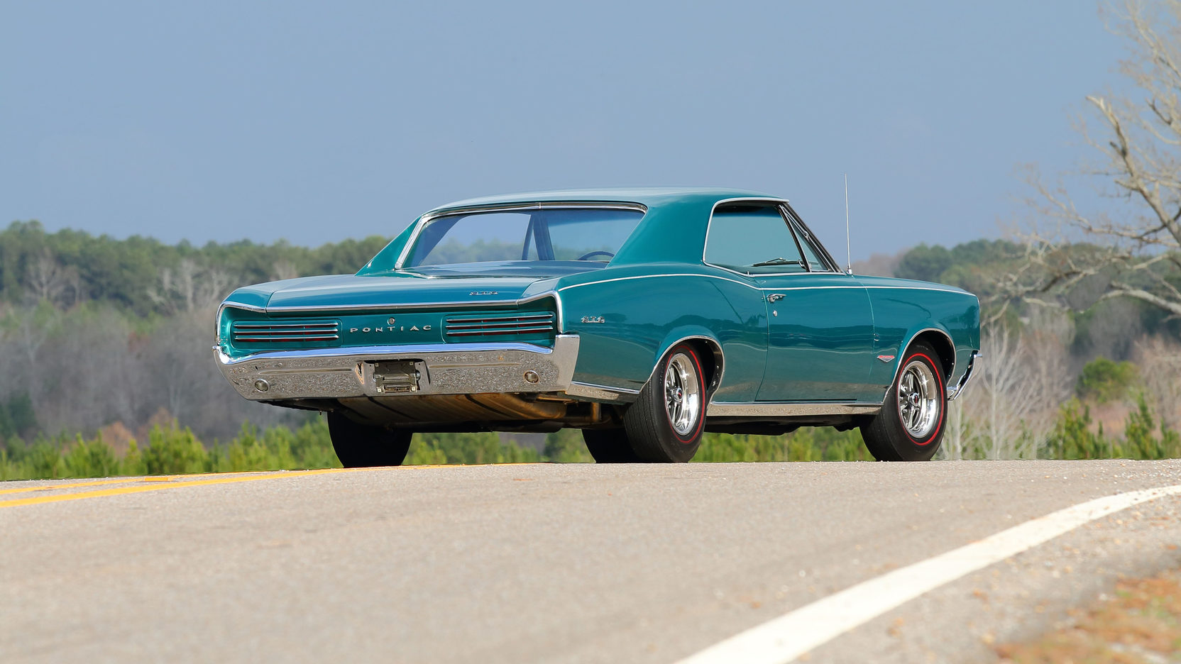 1966 Pontiac GTO teal rear view