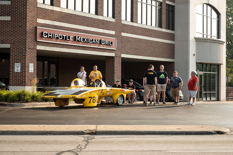 woodward dream cruise electric race car solar power