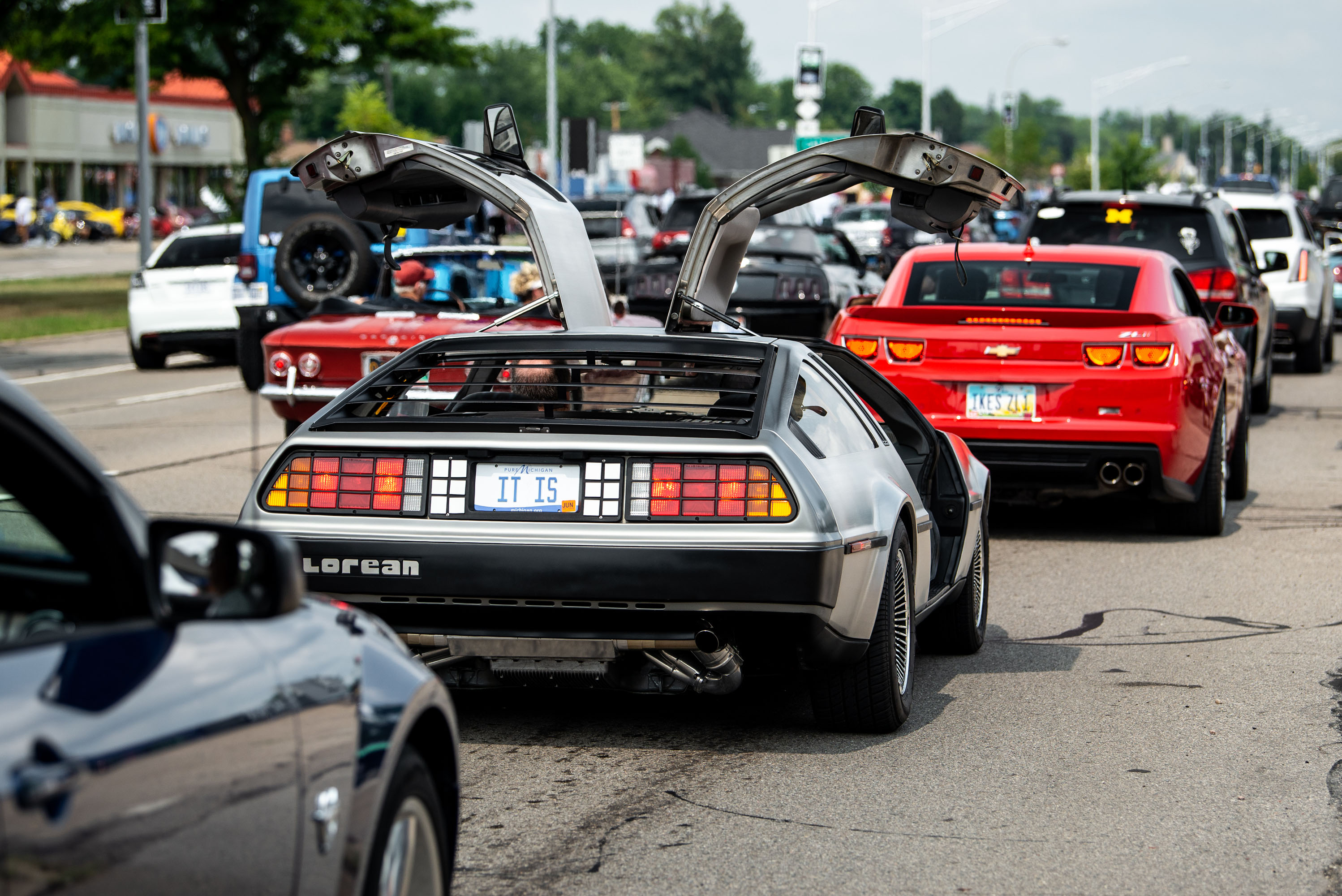 """woodward dream cruise delorean gull wings up """"it is"""""""
