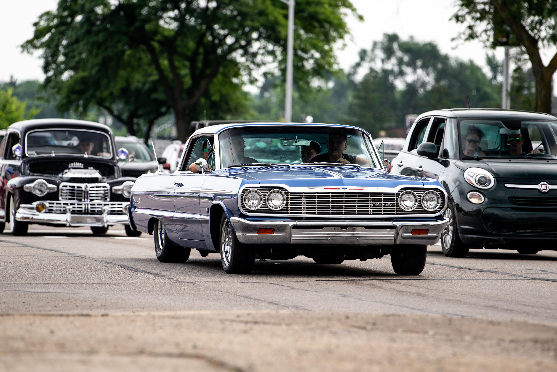 woodward dream cruise chevy impala