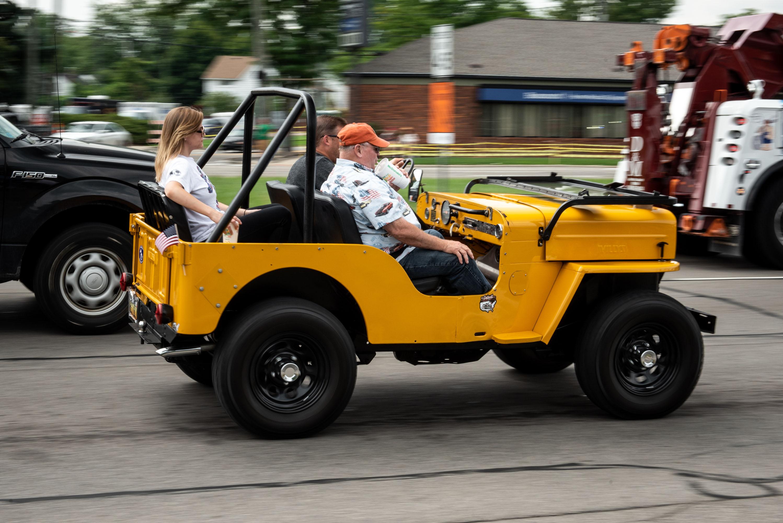 Woodward dream cruise yellow jeep CJ