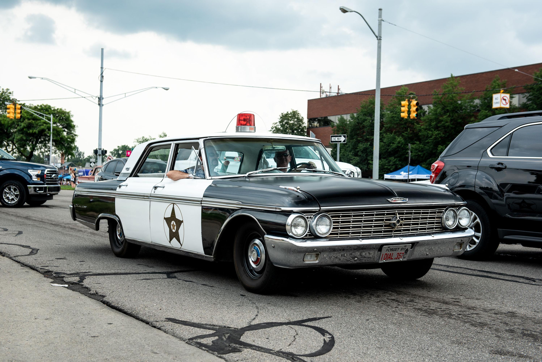 woodward dream cruise ford fairlaine police car