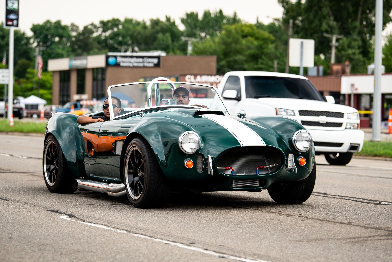 Woodward dream cruise green 427 shelby cobra
