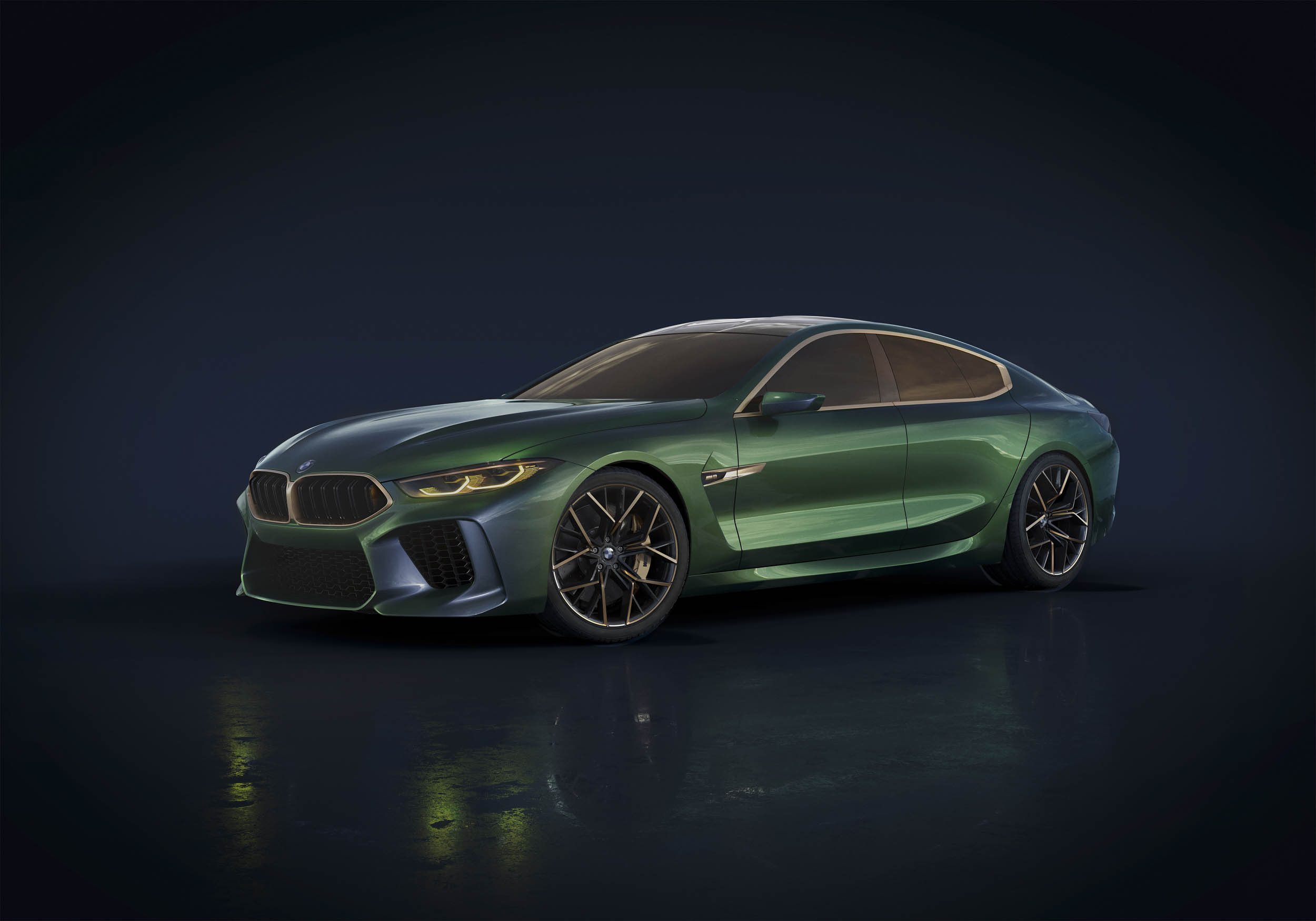BMW M8 Gran Coupe concept front 3/4