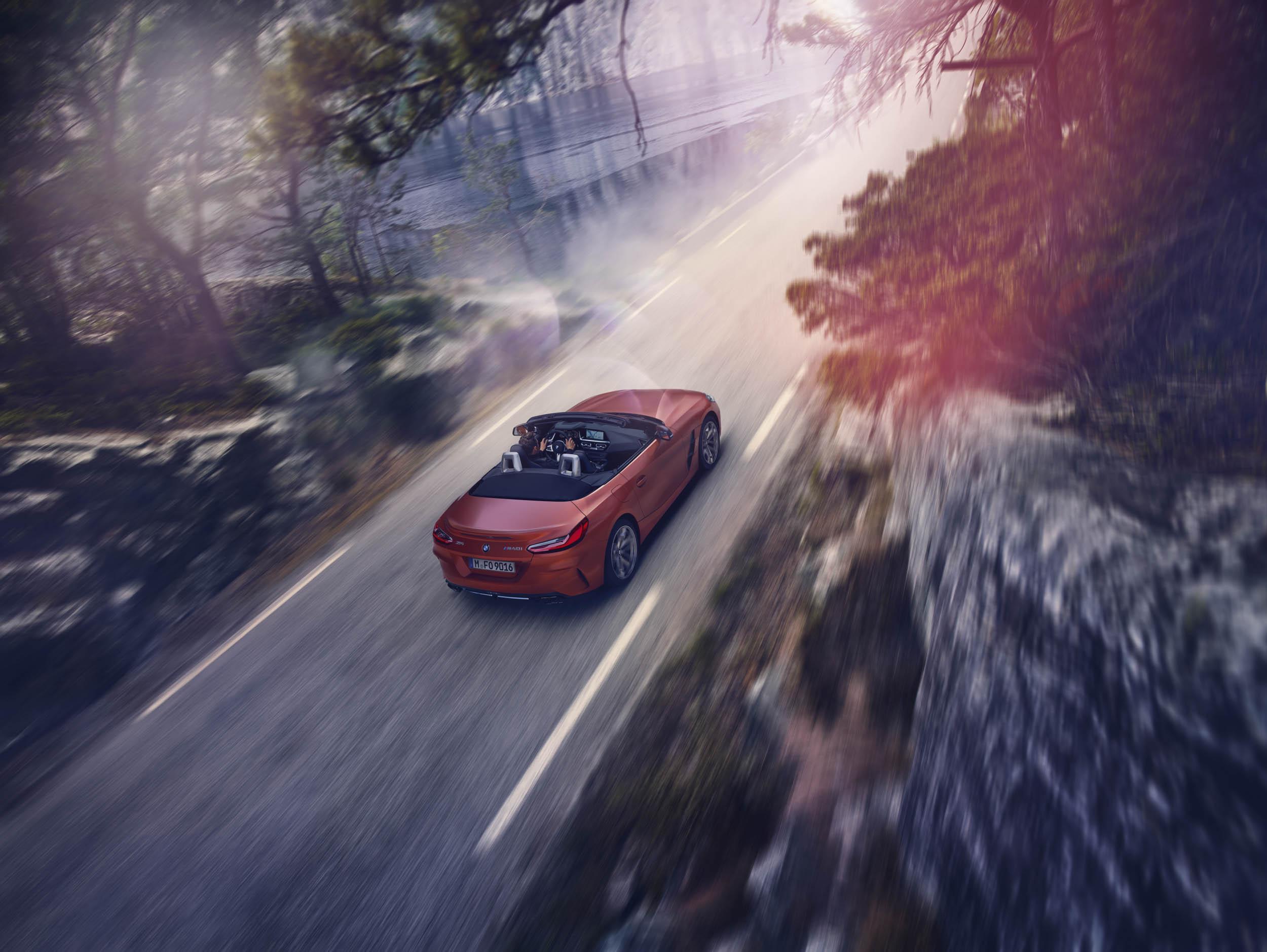 BMW Z4 driving