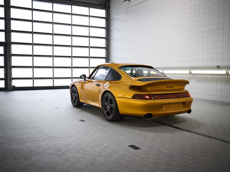 "Porsche ""Project Gold"" 993 Turbo rear 3/4 turbo"