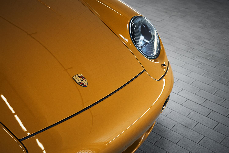 "Porsche ""Project Gold"" 993 Turbo front headlight"