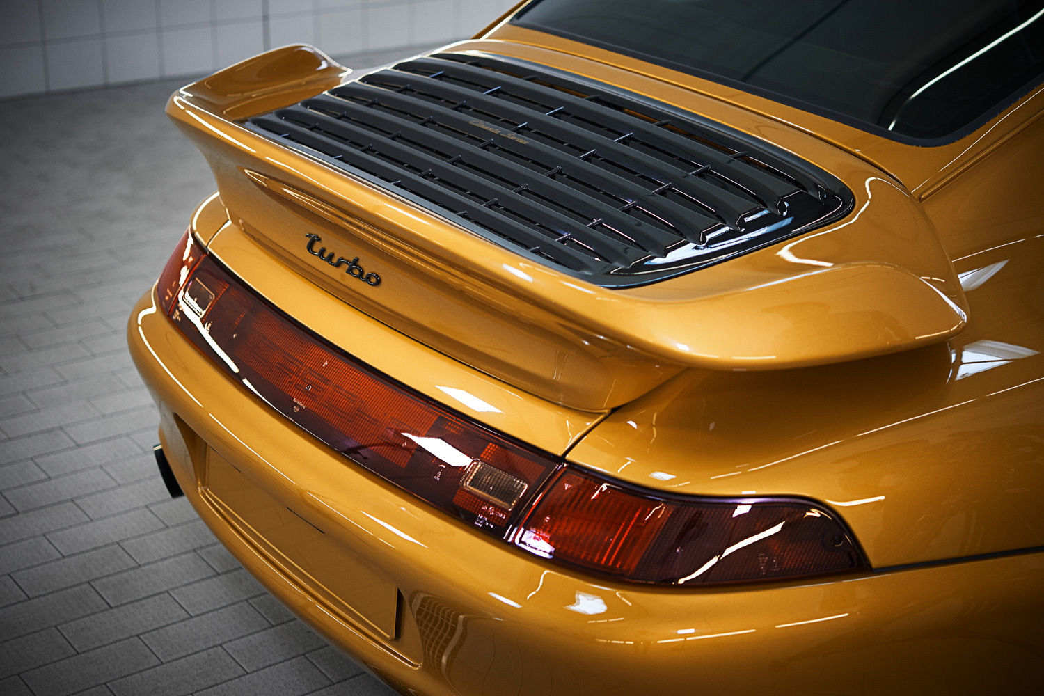 """Porsche """"Project Gold"""" 993 Turbo rear tail wing"""