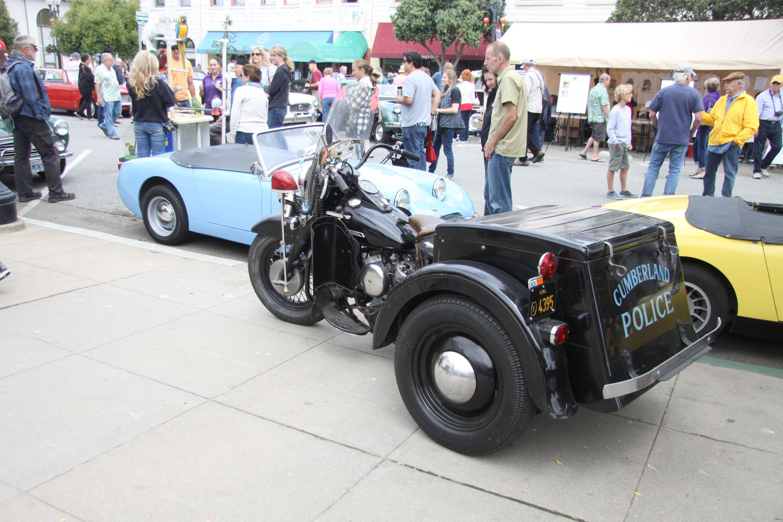 little car show police trike sprite blue