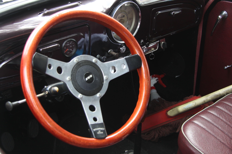 little car show steering wheel interior