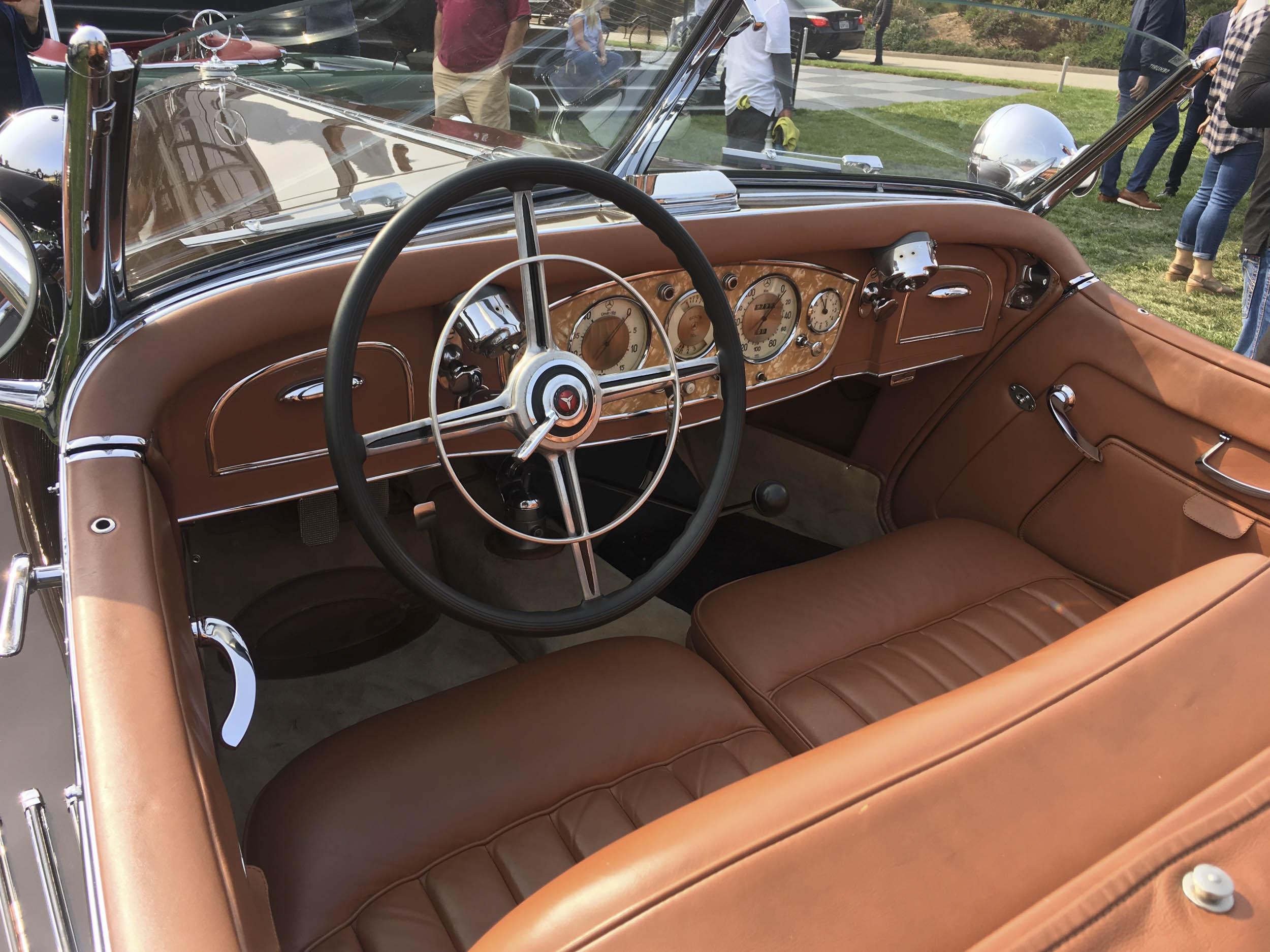 1935 Mercedes-Benz 540K interior