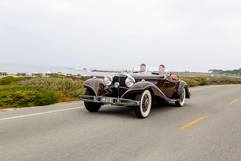 1935 Mercedes-Benz 540K driving front 3/4