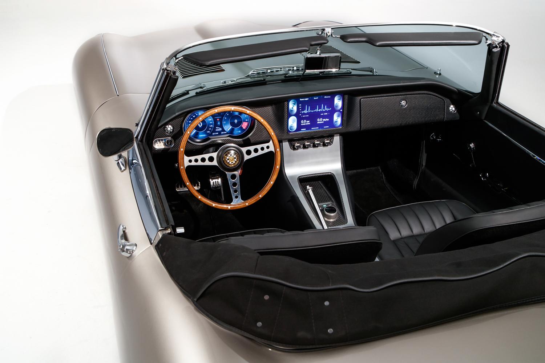Jaguar E-type Zero carbon fiber interior