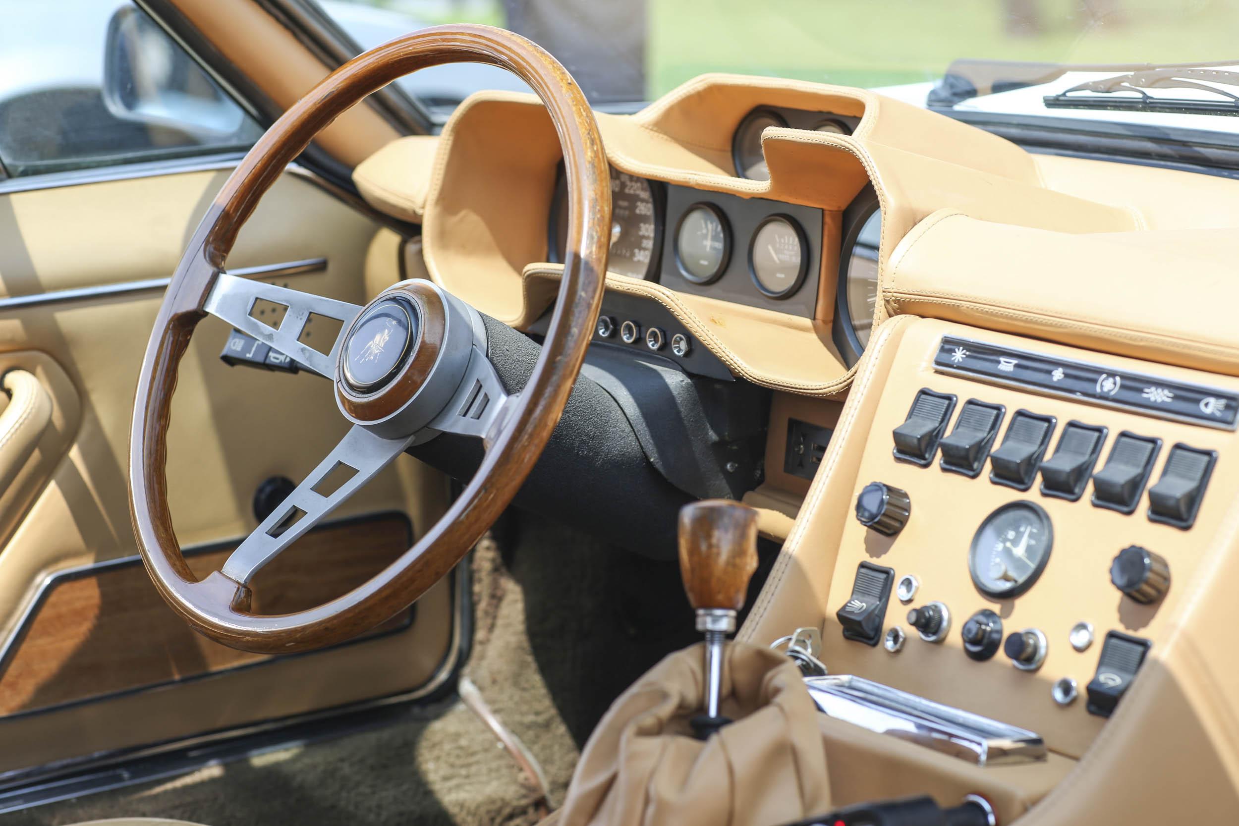 Lamborghini interior at the Quail