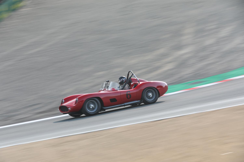 rolex reunion red ferrari race car