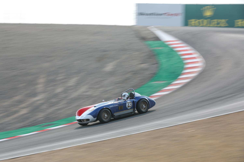Rolex reunion red white blue race car 23