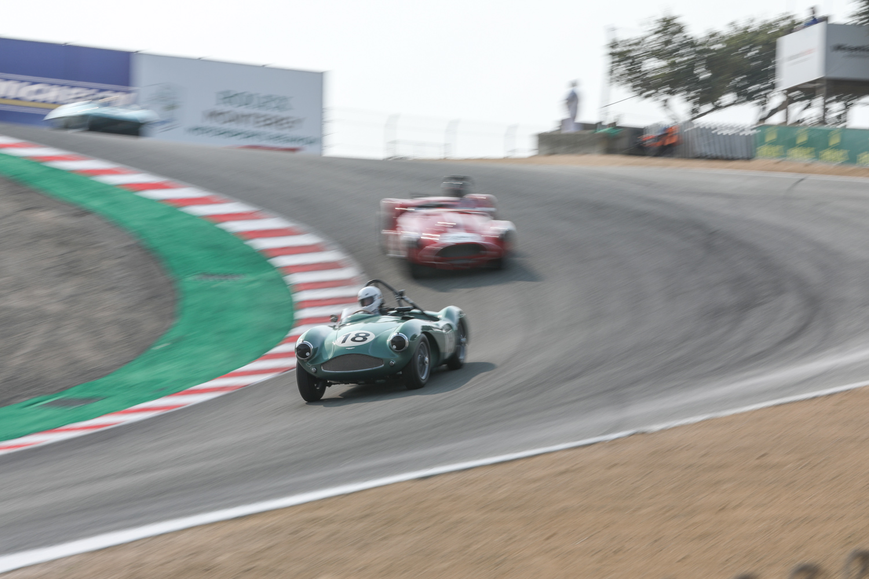 rolex reunion aston martin race car corkscrew