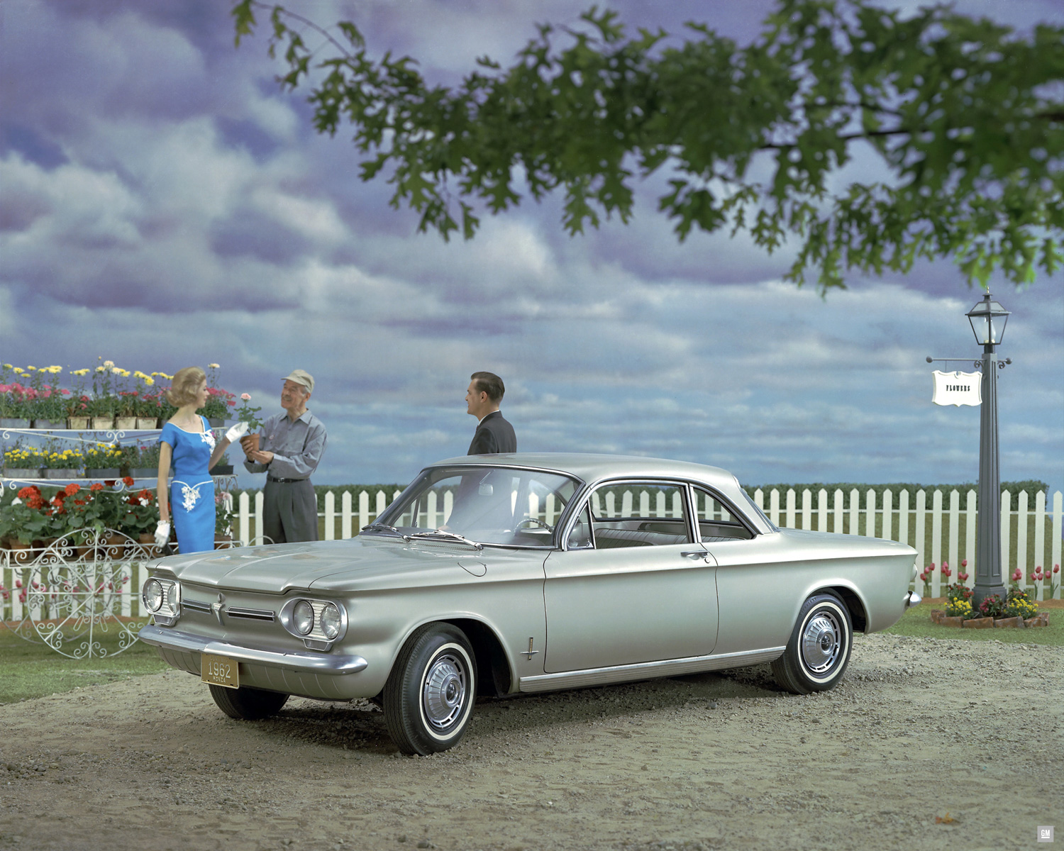 Chevrolet Corvair monza club gray front 3/4