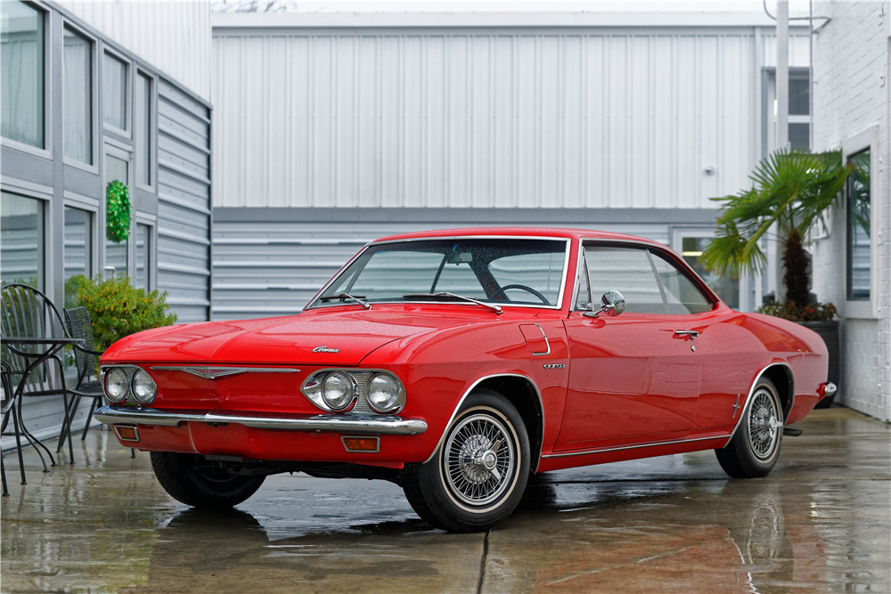 1965 Chevrolet Corvair Corsa front 3/4 red
