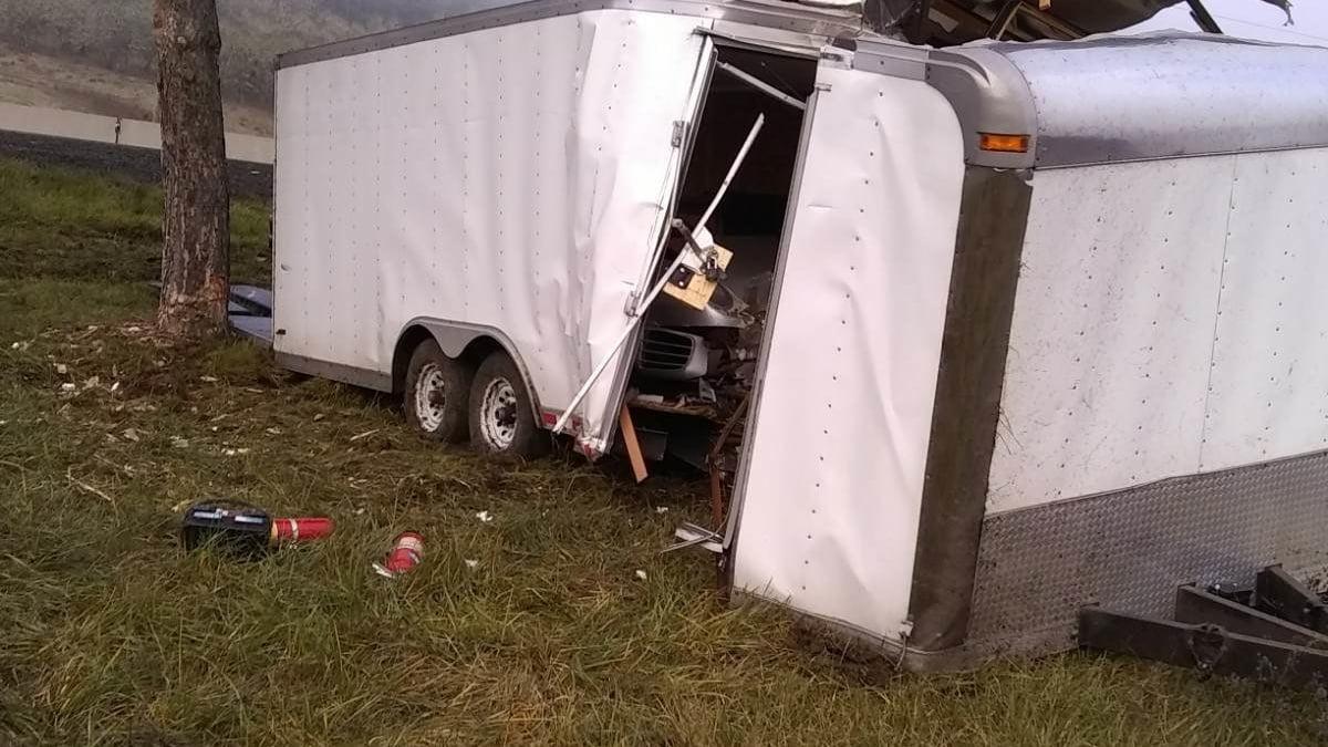 1987 Porsche 959 Komfort trailer wreck accident