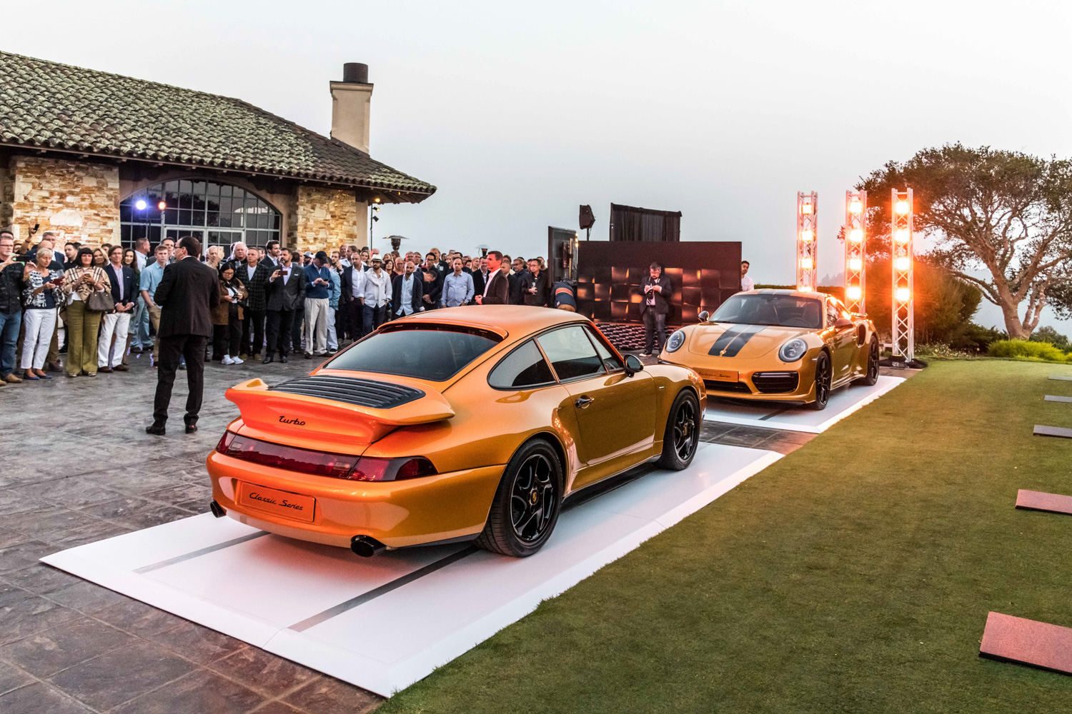 Porsche Project Gold nose to nose with new 911