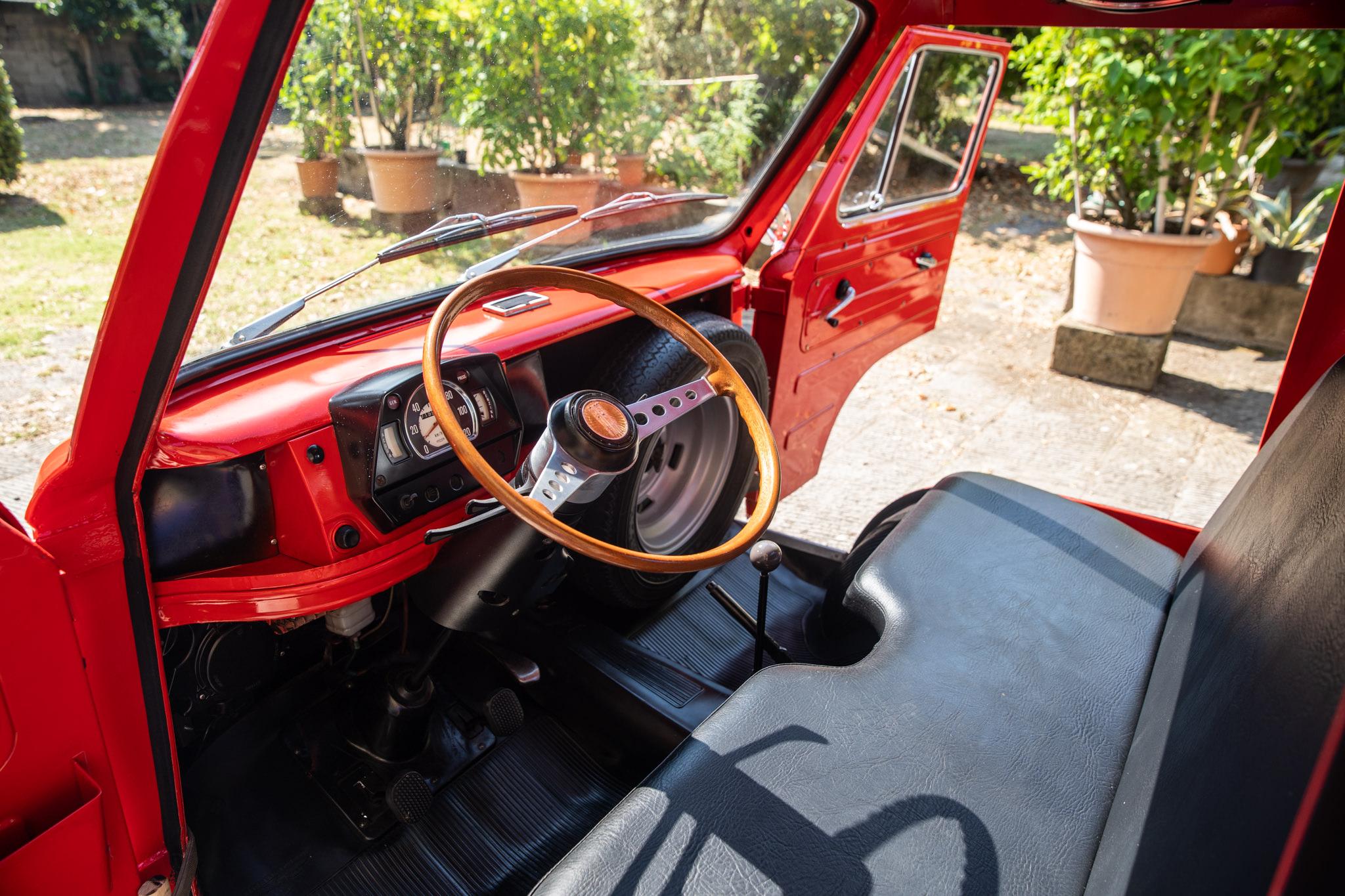 1977 Fiat 900 Coriasco Pickup interior