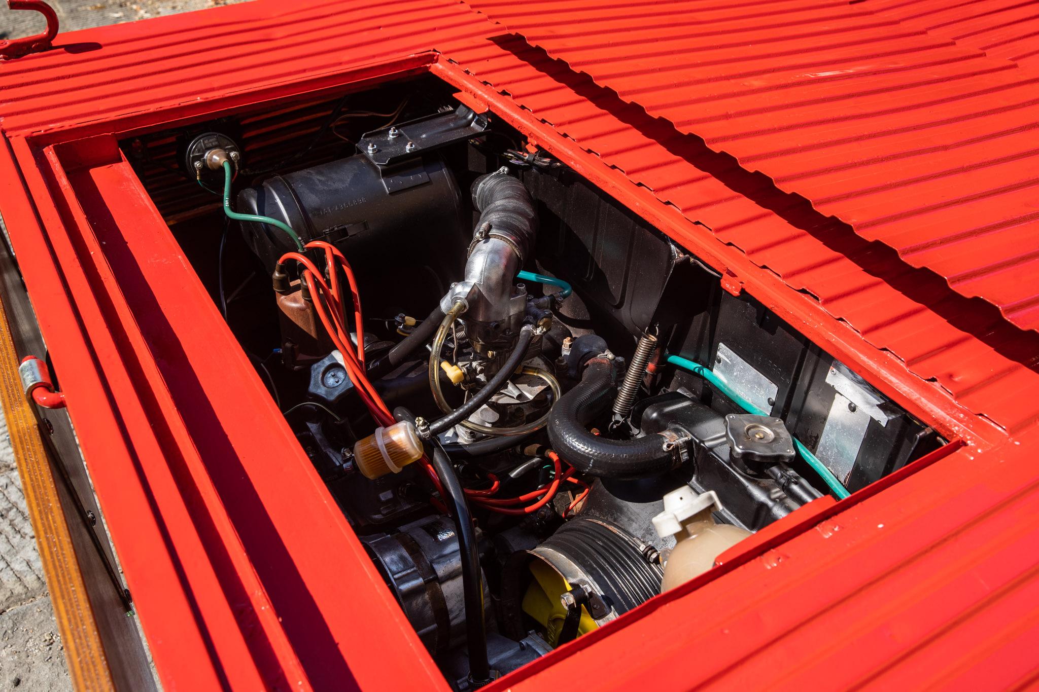 1977 Fiat 900 Coriasco Pickup engine